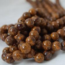 Jaspe cobra natural (Oro Marrón) redonda con cuentas de piedras preciosas-Grado A - 4, 6, 8, 10mm