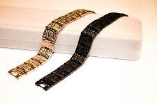 Titanium Magnetic Energy Germanium Armband Power Bracelet Health 6in1 black/gold