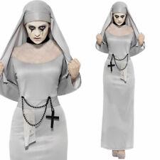 FEMMES GRIS Gothique Déguisement bonne sœur costume halloween SMIFFYS 43728