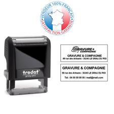 TRODAT PRINTY 4911 | Tampon encreur 3 lignes EMPREINTE 38 x 14 mm OFFERTE
