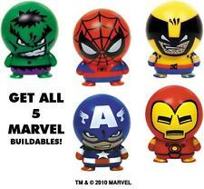 MARVEL BUILDABLES 5 Pack Captain America Wolverine Iron Man Spiderman Hulk NEW