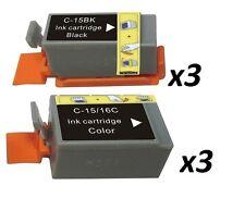 6 ip90 BCI-15BK BCI-15C noir/couleur pour CANON