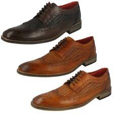 Hombre Base London Punta Redonda Cordones Zapatos Oxford de piel durham
