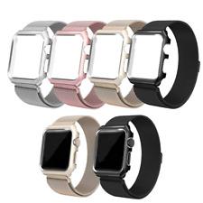 Apple Watch Milanaise Armband mit Aluminium Hülle iWatch Metall Case Strap Loop