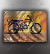 VINTAGE YAMAHA R5-C 350 MOTORCYCLE BANNER