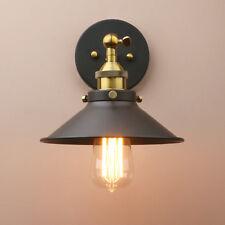E27 Industrial Hierro Vintage Instalación Lámpara Café Alcoba Metal Luz De Pared