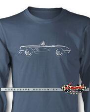 Chevrolet Corvette 1958 1959 1960 Long Sleeves T-Shirt - Multiple Colors & Sizes