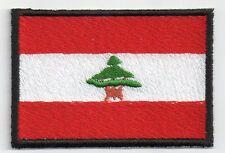 PATCH RICAMO TOPPA BANDIERA FLAG LIBANO cm. 5,5X8