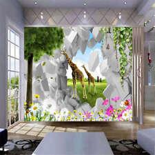Simple Giraffe Zoo 3D Full Wall Mural Photo Wallpaper Printing Home Kids Decor