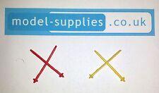 Corgi 475 Citroen Winter Sports / Olympic Safari Reproduction Plastic Ski Sticks