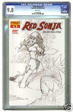 RED SONJA (Conan) #4 CGC 9.8  RRP SILVESTRI SKETCH VAR.