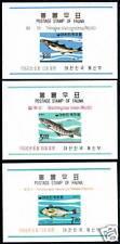 Korea 496-498, 496a-498a, MNH. Marine Life, Fish. s4972