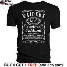 Raiders T-Shirt Oakland Whiskey Graphic Men Cotton JD Whisky Las Vegas