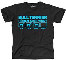 THAW T-Shirt Hunde BULLTERRIER Hören aufs Wort Siviwonder