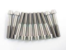 Titanium M10 x 60mm 1.25 Pitch Hex Taper Socket Cap Head Ti Bolts Screw 2/5/8pcs