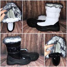 Warme LACK Winter Stiefel / SCHNEESTIEFEL / Boots mit Kunstfell gefüttert