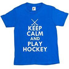 Keep Calm & Play Hockey - Hockey Sticks Kids Boys / Girls T-Shirt