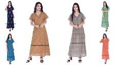 Indische Baumwolle Frauen Nachthemd Hausmantel Sommernacht Kleid Nachtwäsche