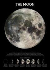 Weltall Universum - Der Mond - Poster Druck - Größe 61x91,5 cm