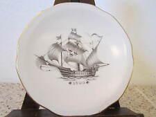 DECORATIVE, NAUTICAL, FINE CHINA SHIP'S PLATE