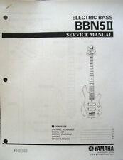 Yamaha BBN5 II 5 String Bass Guitar Service Manual and Parts List Sheets