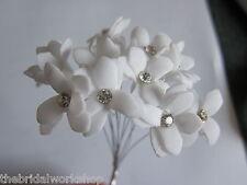 Nozze Fiori Diamante Stephanotis Bouquet Posy Posie acquista 2 ottenere 3rd FREE