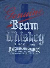 Jim Beam Genuine Beam Whiskey Since 1795 James B. Beam Distilling Co T-Shirt Tee
