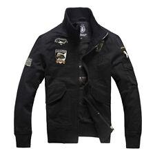 New Men's Slim Fit Zipper Jacket Military Style Air Force jacket Coat LN195