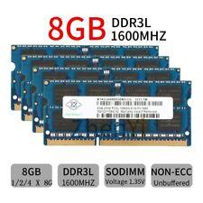 Für NANYA 32GB 16GB 8GB DDR3L-1600 PC3L-12800S SODIMM 204Pin 1.35V Laptop RAM DE