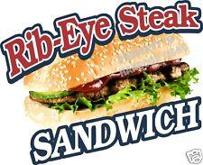 """Ribeye Rib-Eye Steak Sub Sandwich Concession Food Truck Mobile Van Decal 14"""""""