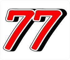 Vagón de ganado, carreras de coches Rally Puerta números stickers/decals