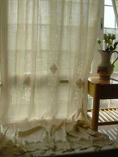 1 PC Country Cotton Linen Crochet Lace Curtain Panel Drape Tab Top B001
