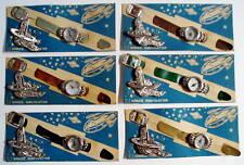 6 1950s Space Navigator Tin Toy Watch Compass Japan Mint