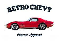 Chevrolet Corvette T-shirt. Retro Chevy. coche clásico. modificado. American Car.