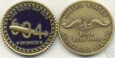 USS HADDO SSN-604 NAVY SUBMARINE SERVICE CHALLENGE COIN