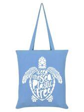 Tote Bag Keep The Sea Plastic Free Sky Blue 38x42cm