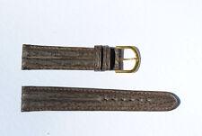 bracelet montre requin véritable marron double joncs 18mm