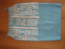 Tracy Reece géométrique turquoise jupe crayon blanc 8