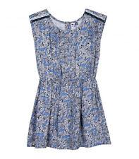 Kleid 3 POMMES Blue Love Trägerkleid Schmetterlinge marine