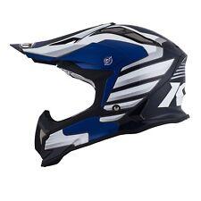 Casco Helm Casque Helmet KYT STRIKE EAGLE Wings White Blue 2018 YSEA0013