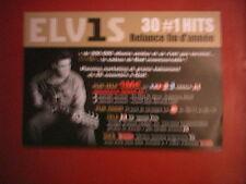 """ELVIS PRESLEY - PLAN MEDIA / PRESS KIT """"30 #1 HITS"""""""