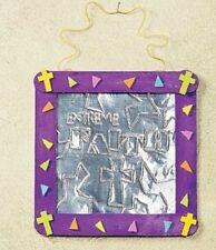 Extreme Faith Embossed Foil Banner Craft Kit  Purple Fun Kids Christian