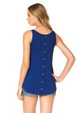 ajc mujer top Sin Mangas Camiseta Redondo Extra Grande Azul 636565