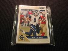 2011 SCORE FOOTBALL ST LOUIS RAMS TEAM SET 13 CARDS