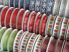 American Crafts 10mm imprimé en satin et ruban grosgrain-Noël 12