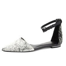 REBECCA MINKOFF Women's Felix Creme & Black Leather Flats $195 NIB