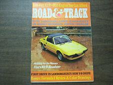 Road & Track Magazine First Drive In Lamborghini's V-8 Coupe March 1973 041912R