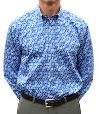 BLUE HONEYCOMB DOTS SHIRT GET UP MOD CLOTHING MODS NORTHERN SOUL