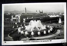 Spain~1919 Barcelona~Intl Expo ~Great Fountain~Rppc