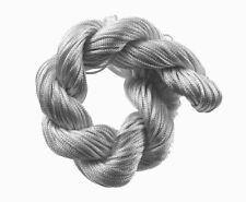 Makramee Garn Nylonfäden Kordel 2mm Schnur Shamballa Band Schmuck Silber C72
